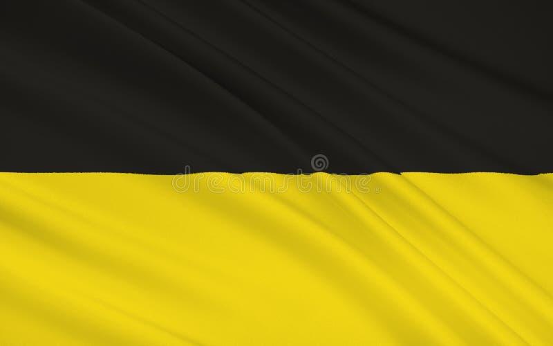 巴登-符腾堡州旗子-德国的土地 皇族释放例证