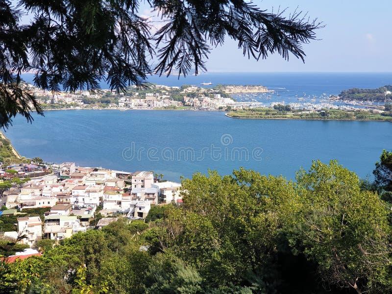 巴科利,在那不勒斯,意大利附近的Flegreas地区 库存图片