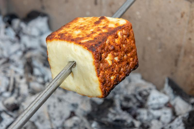 巴西人Coalho乳酪 库存照片