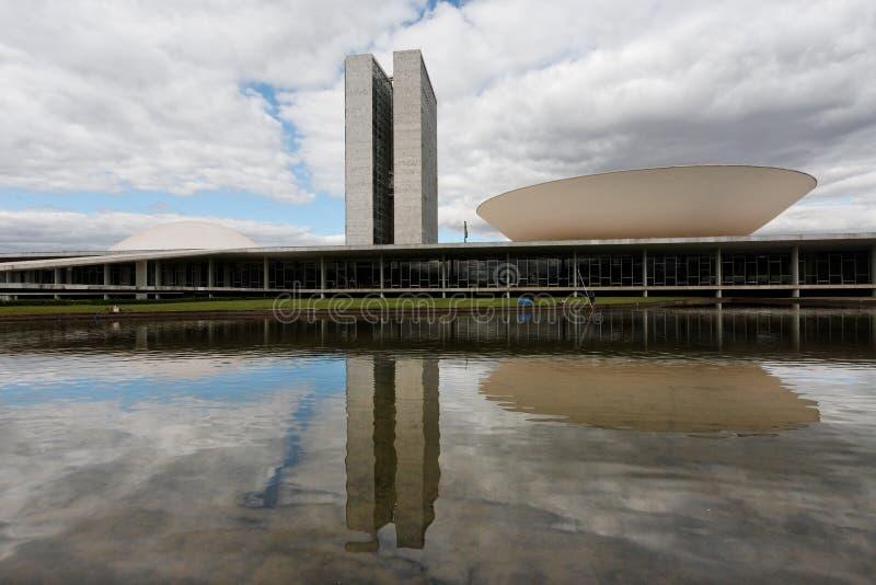 巴西利亚大厦国会 库存图片