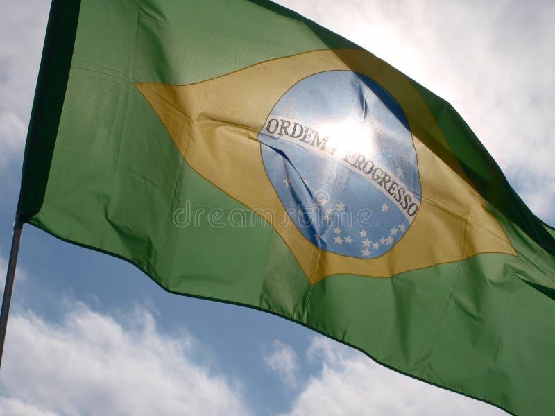 巴西国旗2 免版税图库摄影
