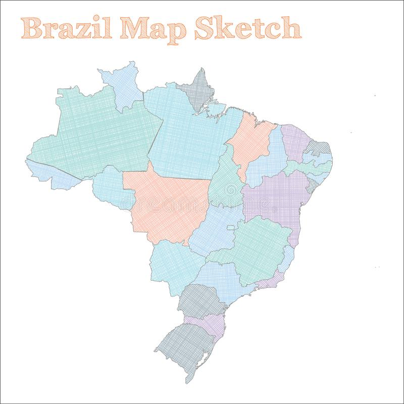 巴西地图 向量例证