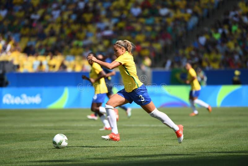 巴西女子的足球队员 库存照片