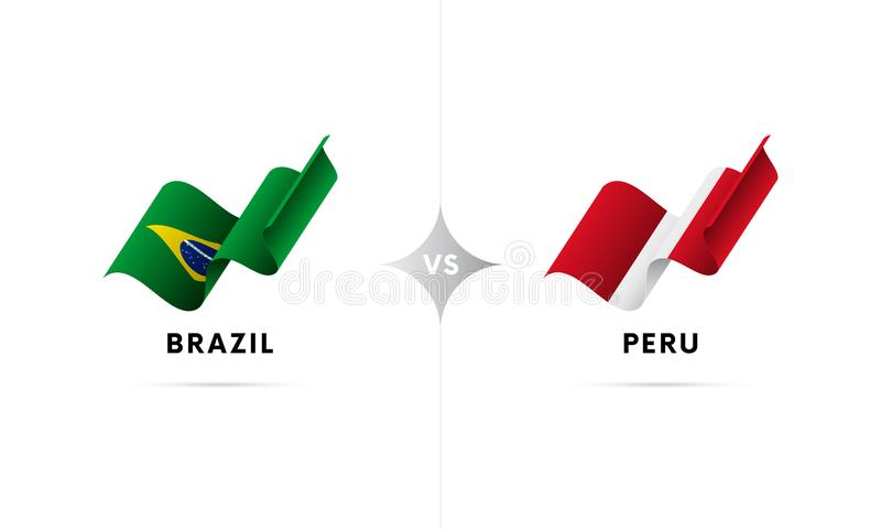 巴西对秘鲁 橄榄球 也corel凹道例证向量 向量例证