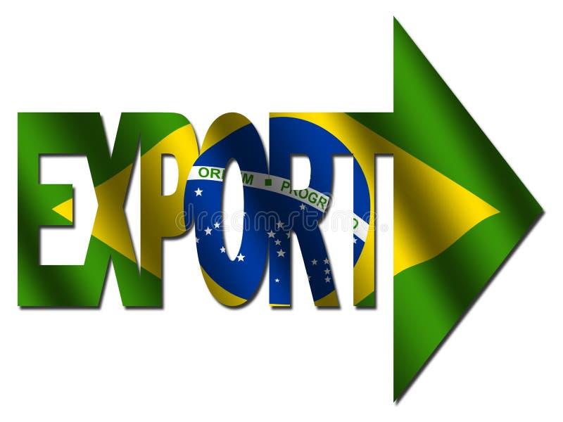 巴西导出文本 向量例证