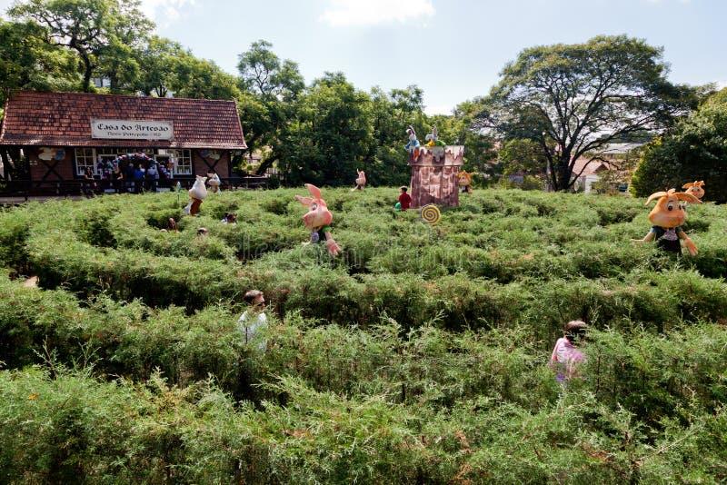 巴西庭院迷宫新星petropolis 库存图片