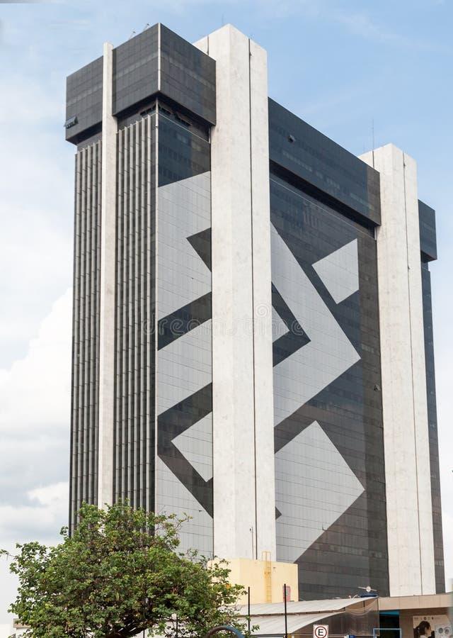 巴西总部巴西利亚银行  免版税库存图片