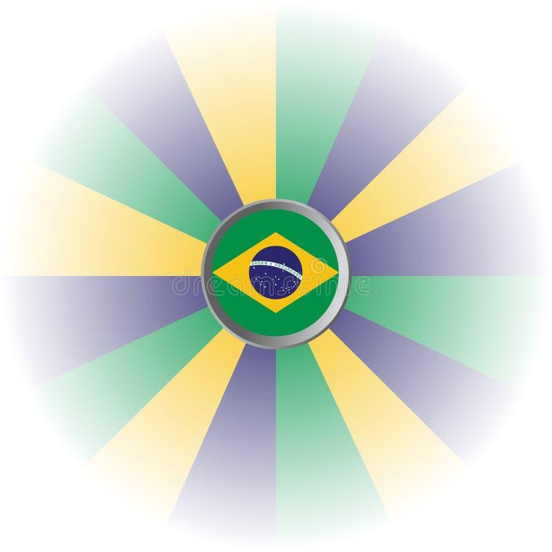 巴西旗子和黄色蓝绿色颜色 库存图片