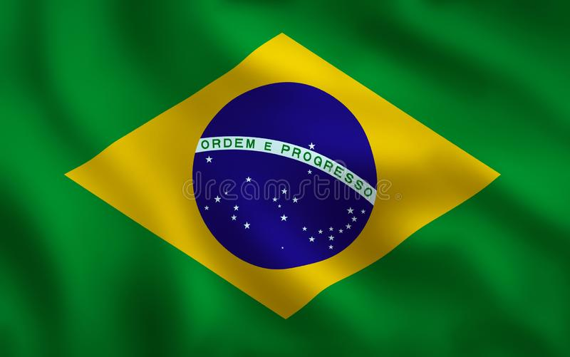 巴西旗子图象充分的框架 皇族释放例证