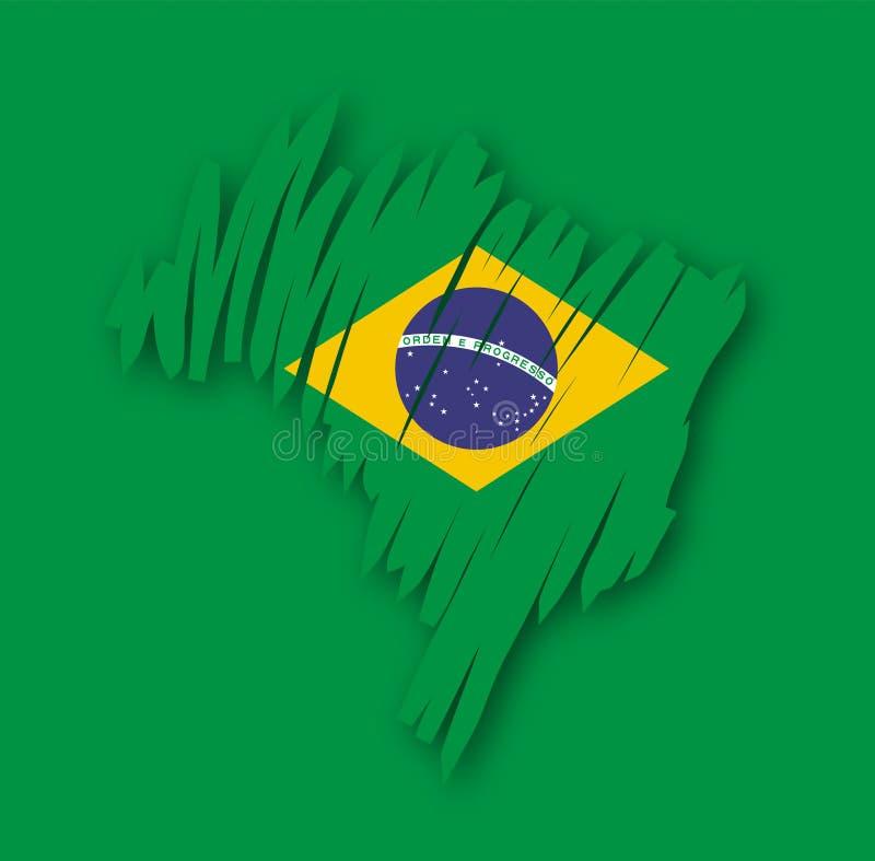 巴西映射向量 库存例证