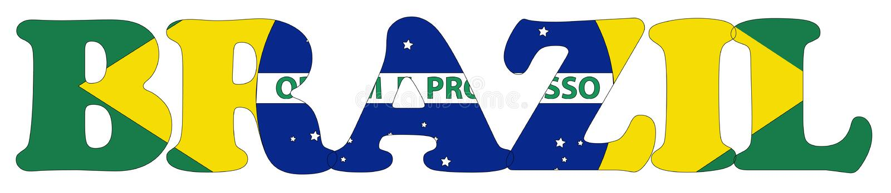 巴西标志名字 向量例证