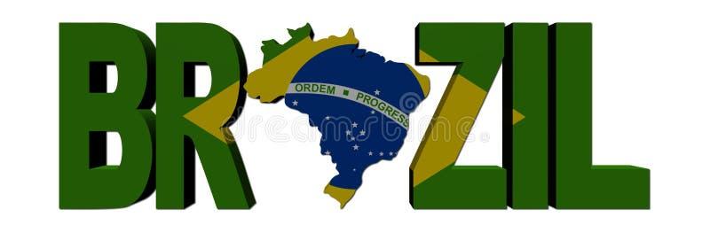 巴西标志映射文本 皇族释放例证