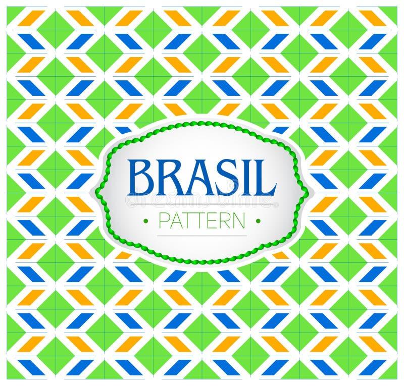 巴西样式、背景纹理和象征与巴西的旗子的颜色 库存例证