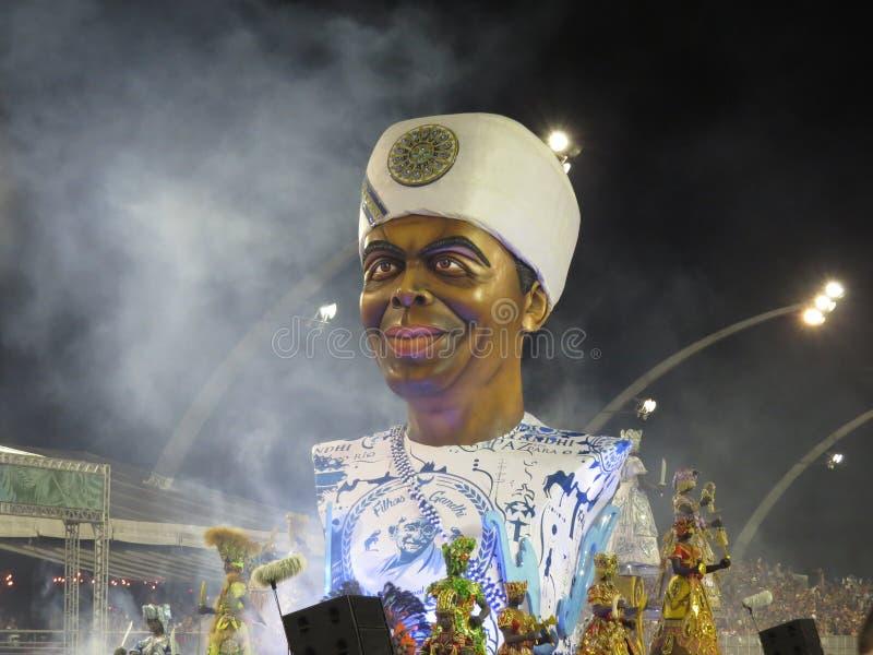 巴西狂欢节队伍 免版税图库摄影