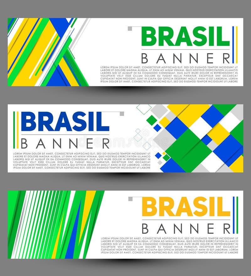 巴西现代横幅模板传染媒介布景 皇族释放例证