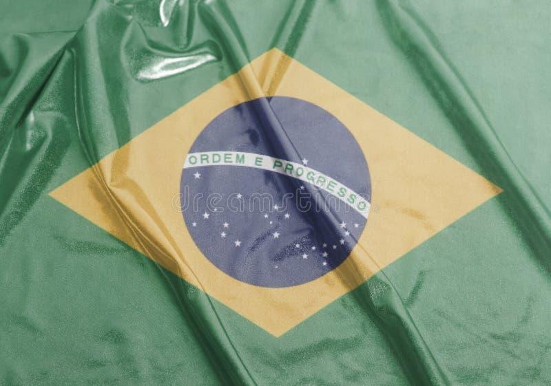 巴西的挥动的国旗 免版税库存照片