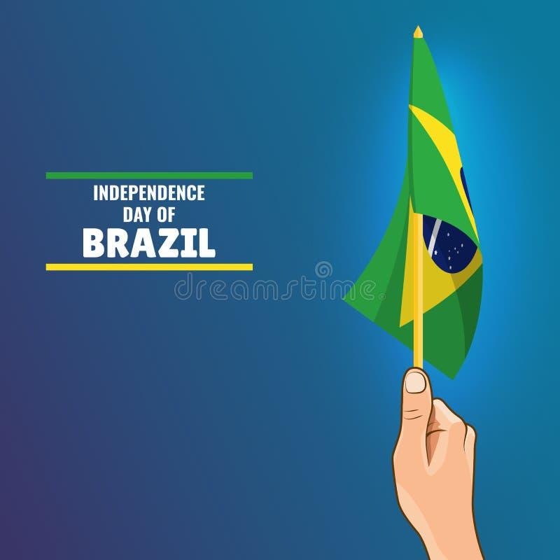 巴西的独立日 向量例证