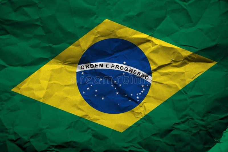 巴西的Grunge标志 免版税库存图片