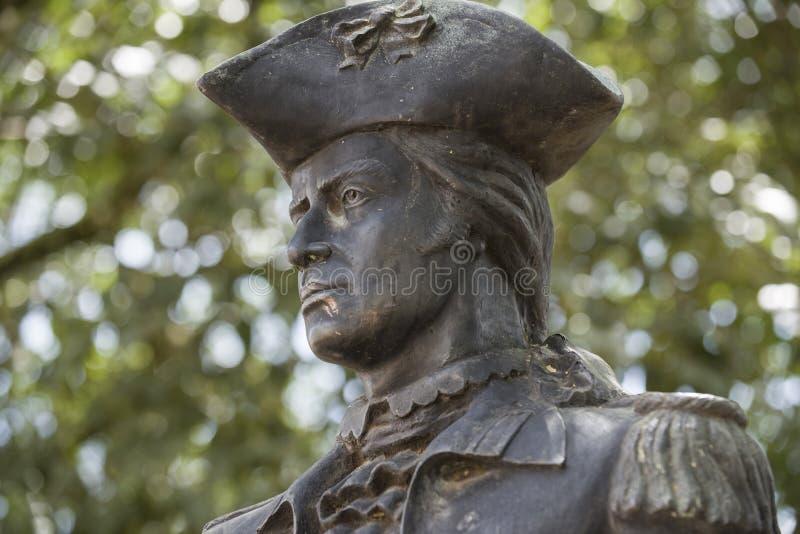 巴西米纳斯吉拉斯蒂拉登特斯 — 2016年3月8日:提拉登特斯雕像,他是巴西革命运动的主要成员 免版税库存图片