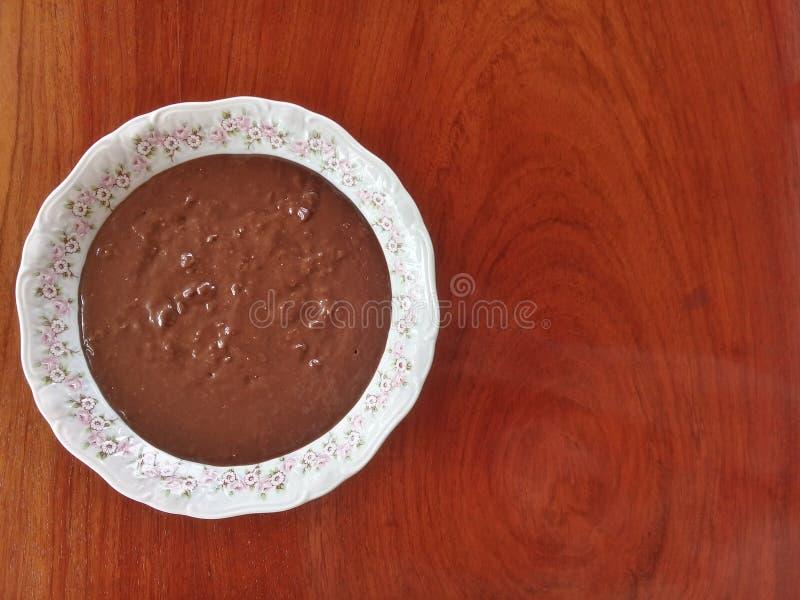 巴西糖果叫作'brigadeiro的Brigadeiro de colher' 免版税库存图片