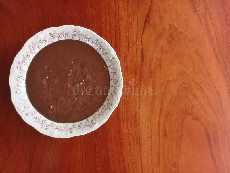 巴西糖果叫作'brigadeiro的Brigadeiro de colher' 免版税图库摄影