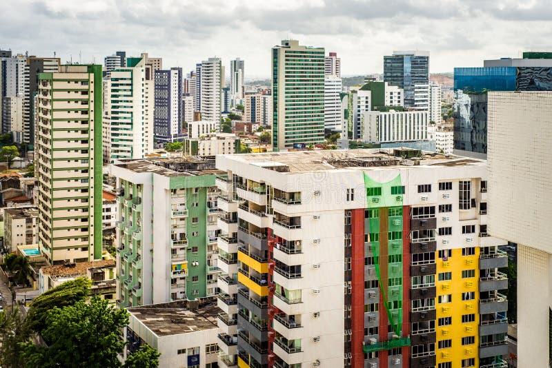 巴西累西腓市空景 免版税库存图片