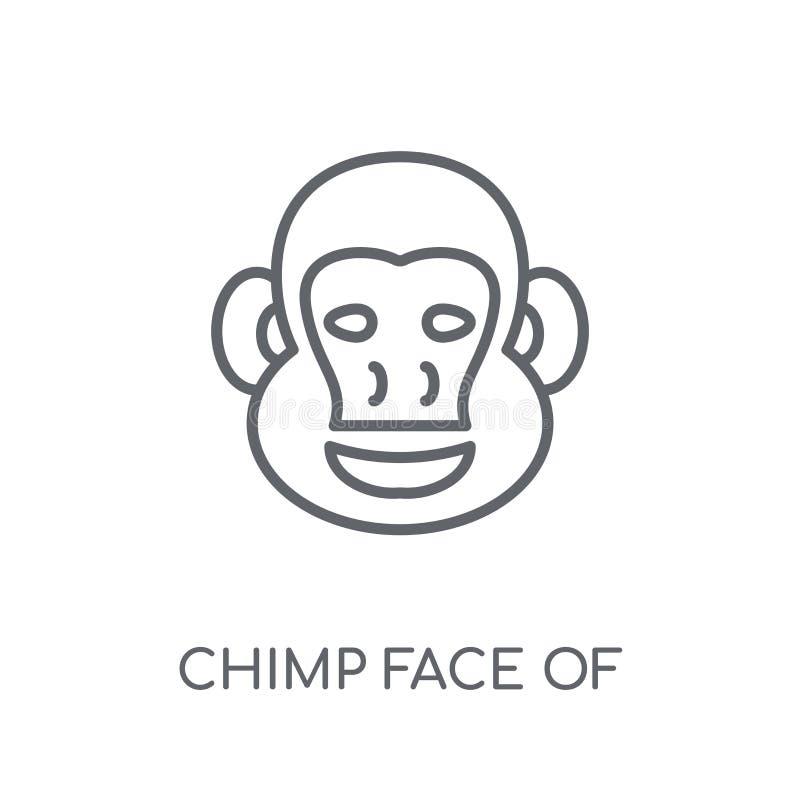 巴西线性象的黑猩猩面孔 B的现代概述黑猩猩面孔 皇族释放例证