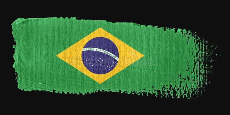 巴西绘画的技巧标志 库存例证