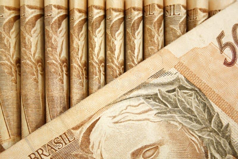 巴西货币特写镜头 图库摄影