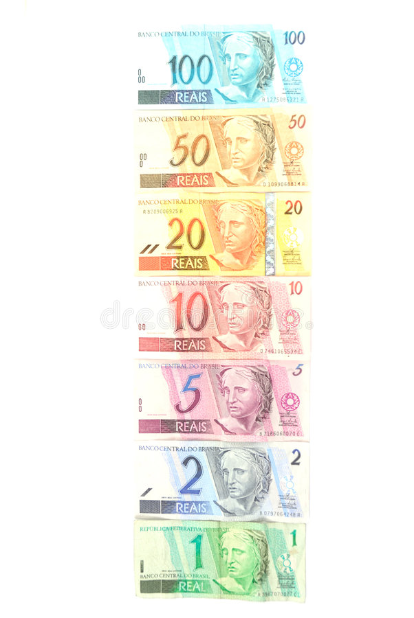 巴西货币 免版税库存图片