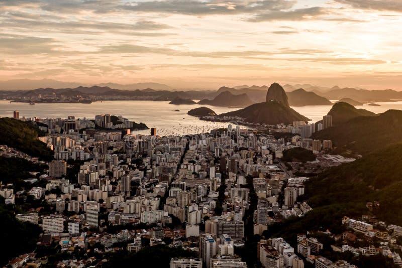 巴西里约热内卢的日出 免版税库存照片