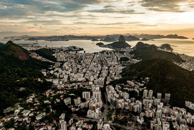 巴西里约热内卢的日出 库存照片