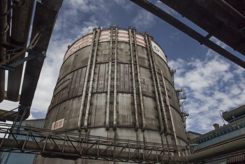巴西里约热内卢,沃尔塔·雷东达,2016年2月16日:巴西国家钢铁公司CSN燃料罐 免版税库存照片