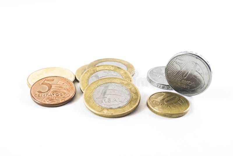 巴西金钱:真正-白色背景 图库摄影