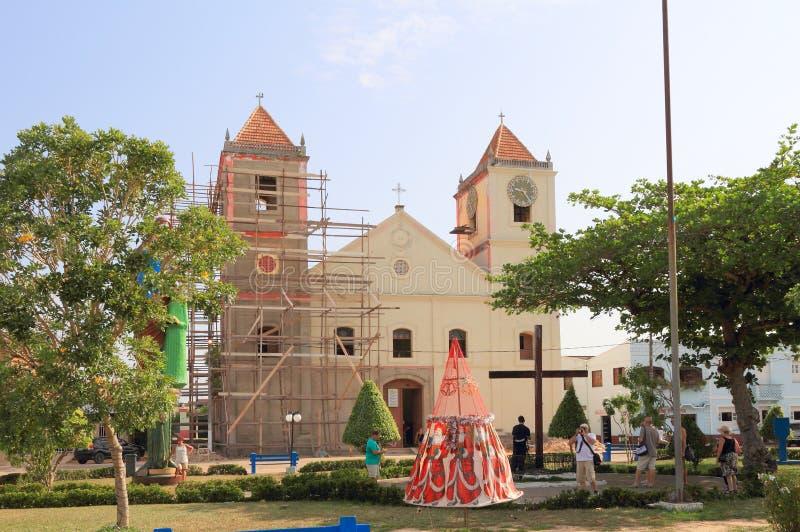 """巴西, Ã """"bidos :圣安大教堂  免版税库存照片"""