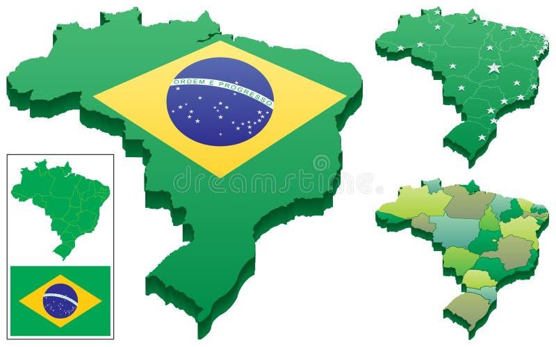 巴西 向量例证