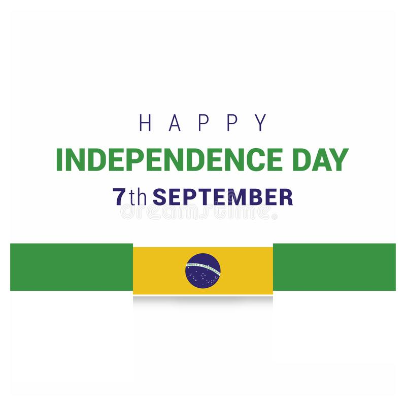 巴西Indpendence天设计卡片传染媒介 库存例证