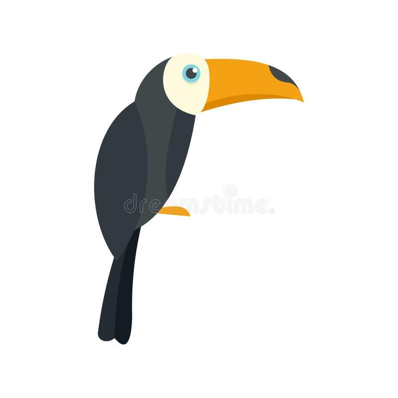 巴西toucan象,平的样式 库存例证