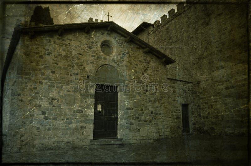 巴迪亚修道院的教堂Passignano 图库摄影