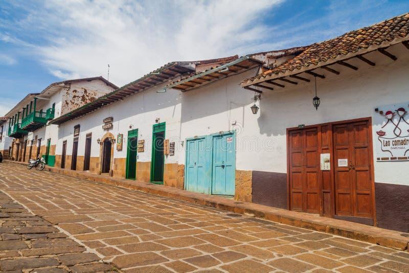 巴里查拉村庄,哥伦比亚 图库摄影