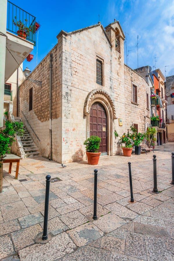 巴里,意大利,普利亚:圣乔瓦尼Cristomo教会 库存照片