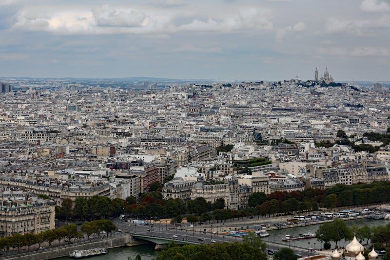 巴黎人城市的美妙的全景 图库摄影