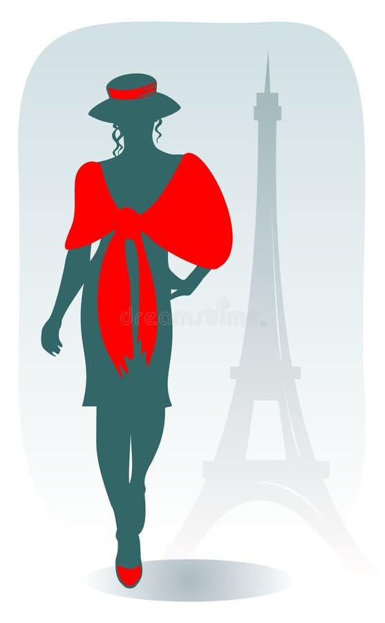 巴黎人妇女 库存例证