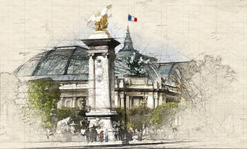 巴黎人巴黎大皇宫 库存照片