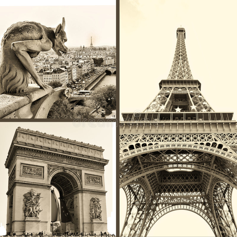 巴黎人照片 库存照片