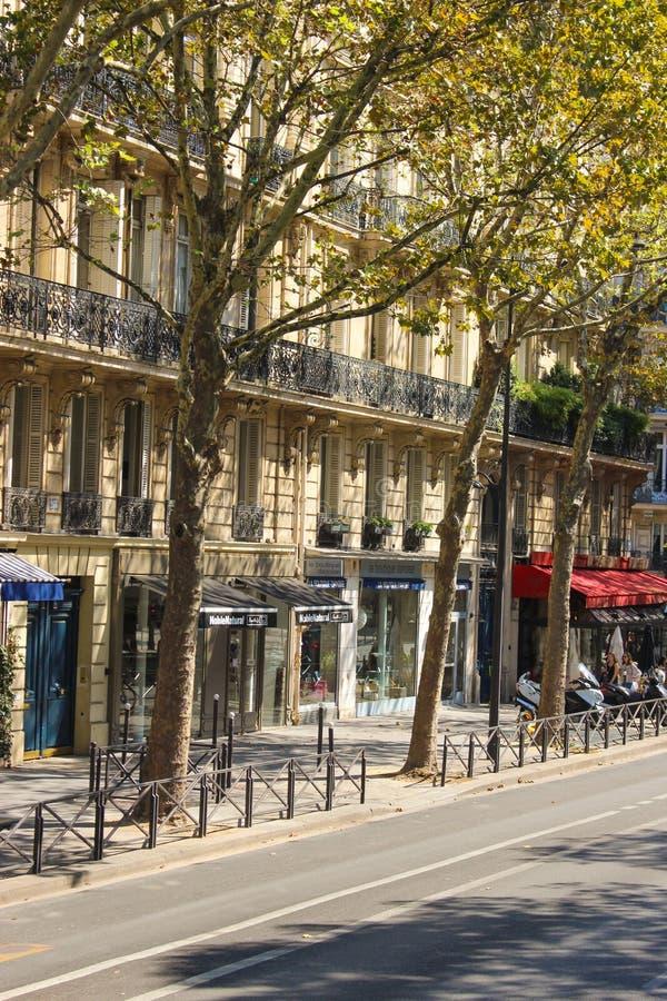 巴黎住宅建筑 免版税库存照片
