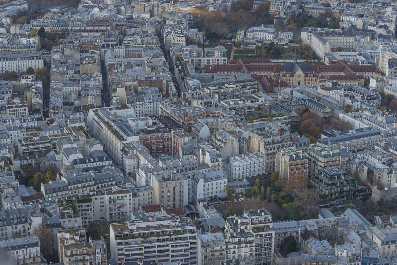 巴黎全景通过平衡 免版税库存图片