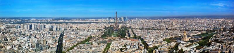 巴黎全景,法国。 埃佛尔铁塔, Les Invalides。 免版税库存照片