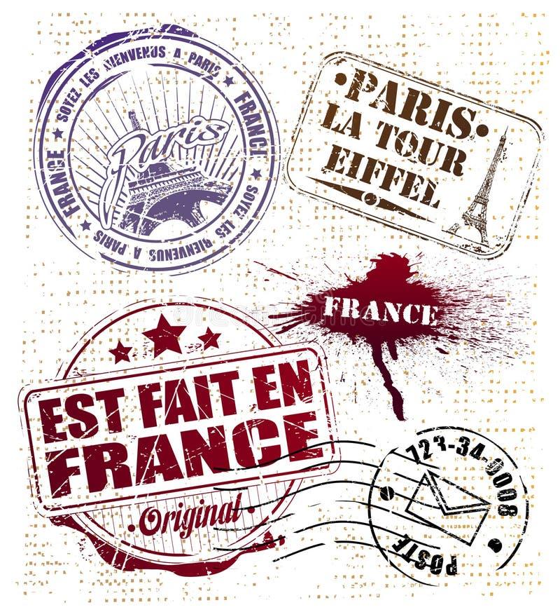 巴黎印花税 库存例证