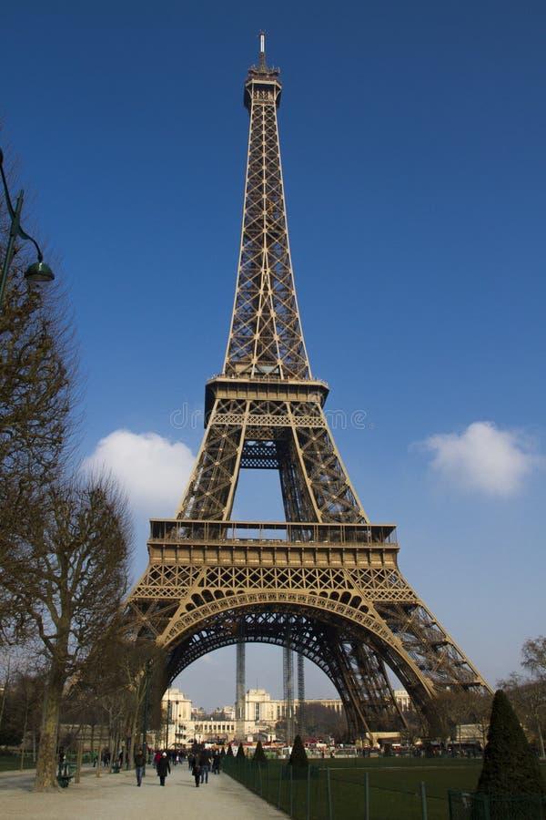 巴黎历史和旅游地标在法国 免版税库存图片